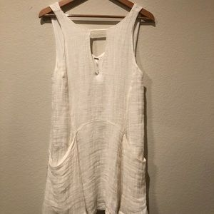 Free People White Shift Dress with Pockets